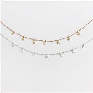 Salty Cold Brew Jewelry - Dainty Star Charm Choker Necklace